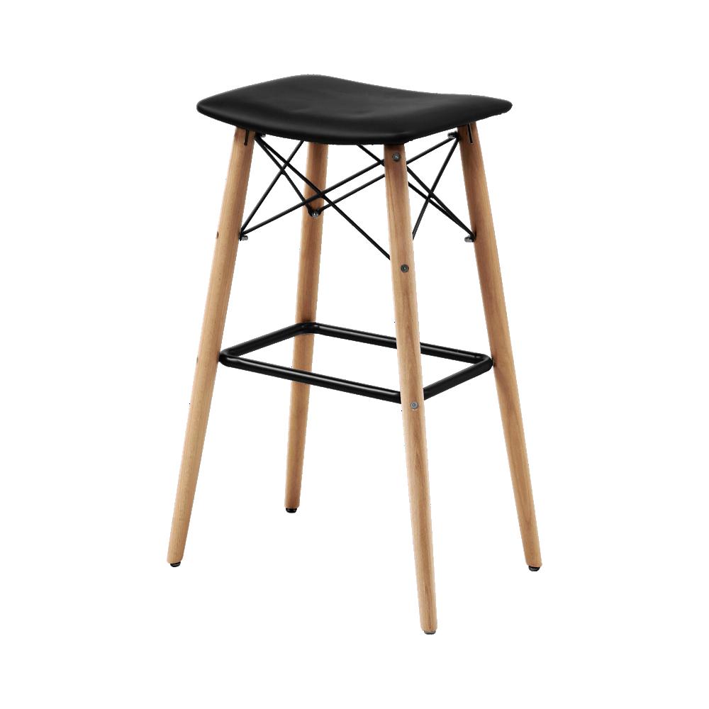 Tabouret bar bois pu noir tabouret table chaise Fly chaise de bar