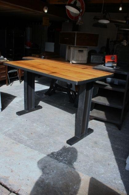 making industrial furniture. Making Industrial Furniture. Table Mange Debout Ipm Sur Mesure #industriel #métal #bois Furniture U