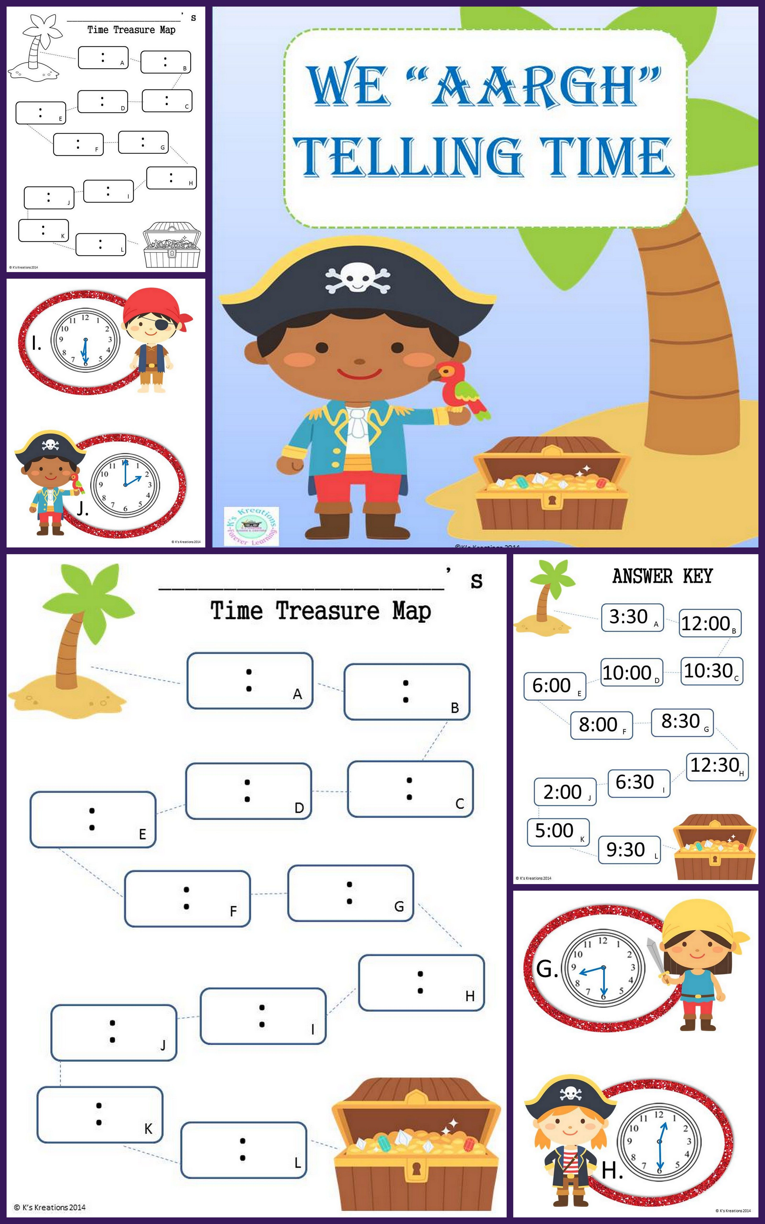 1 md 3 pirate telling time game math for first grade telling the time pirates math school. Black Bedroom Furniture Sets. Home Design Ideas