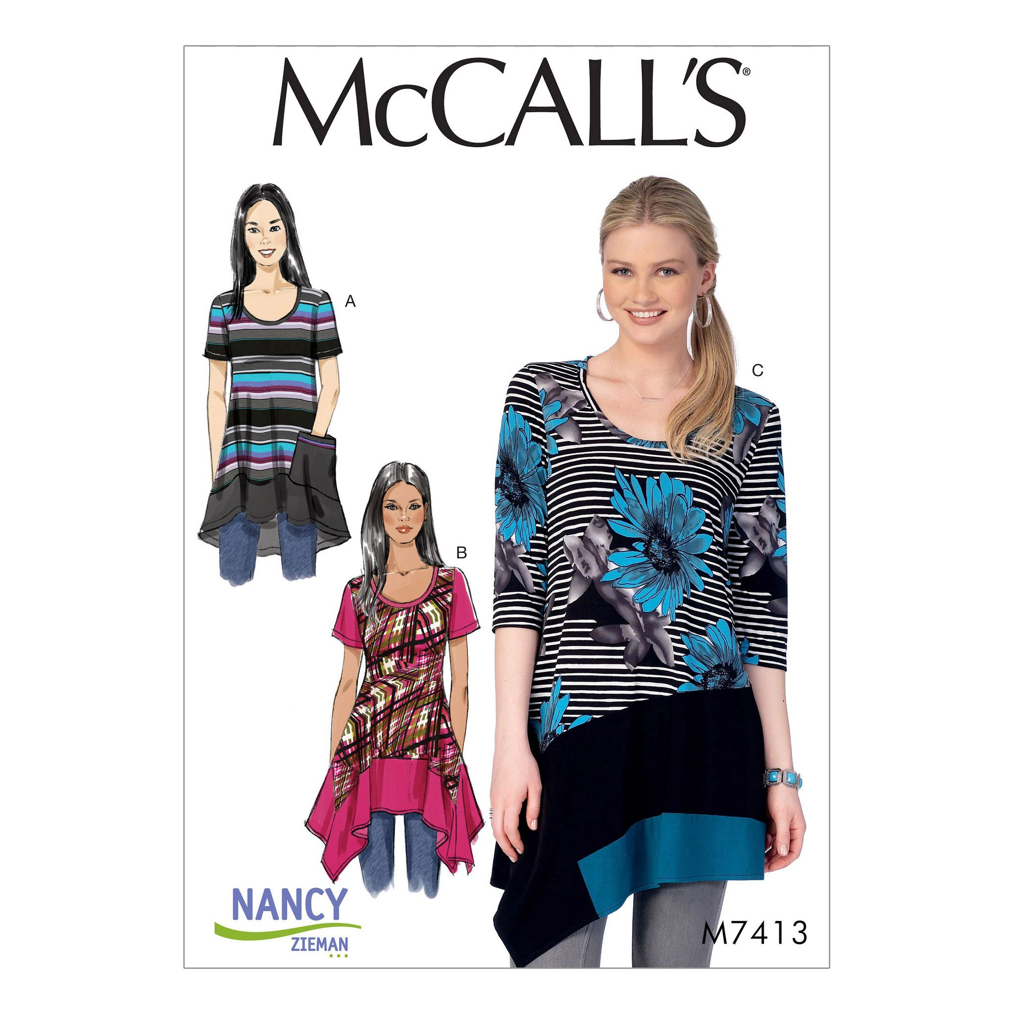 M7413 Misses / Womens Tops McCalls pattern