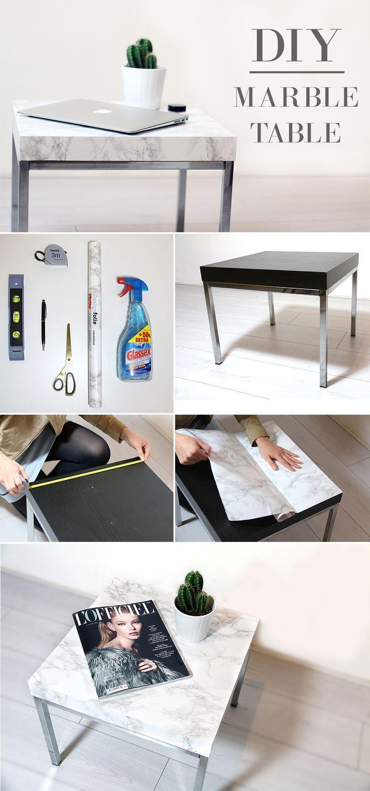 Diy Marble Table Diy Furniture Ideas In 2019 Diy Room