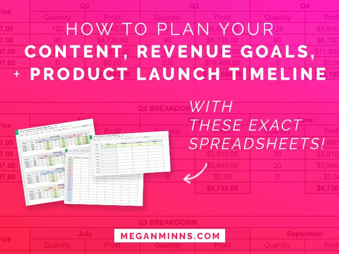 How to Plan your Content, Revenue Goals, and Product Launch Timeline
