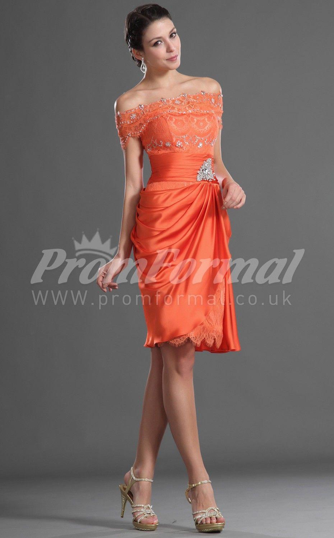 Orange lacechiffon short prom dresses mariage maman pinterest