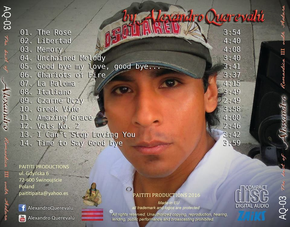 The Best of Alexandro Original CDs recorded by Alexandro Querevalú
