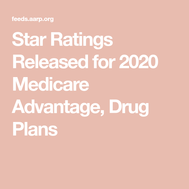 Star Ratings Released For 2020 Medicare Advantage Drug Plans In 2020 With Images Medicare Advantage Medicare How To Plan