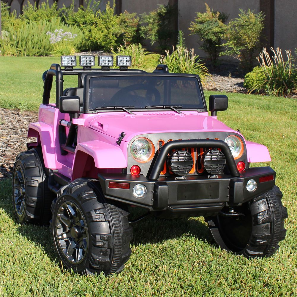 Ride On Car 12v Kids Power Wheels Jeep Truck Remote Control Rc Lights Music Pink Europacificbrands 249 00 Power Wheels Kids Power Wheels Power Wheels Jeep
