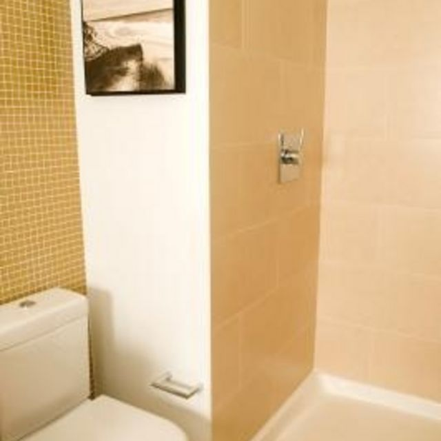 How to Paint Bathroom Plastic Shower Tiles. Find this Pin and more on  Cleaning ...