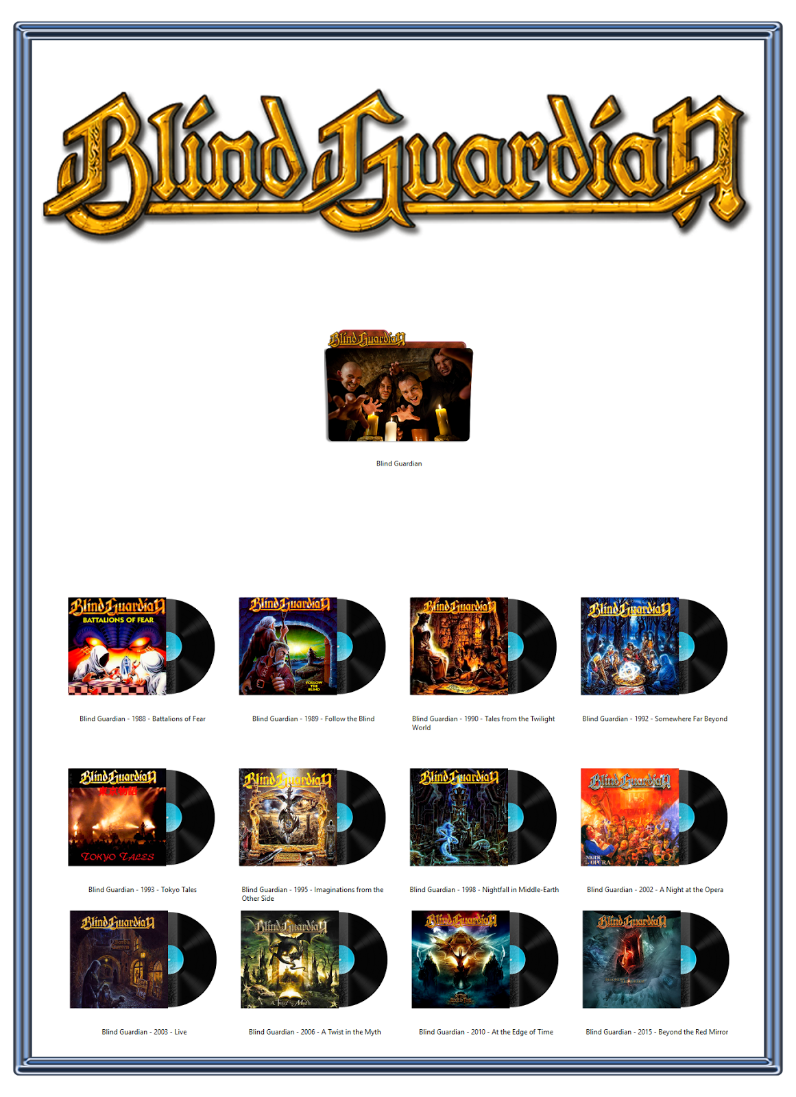Album Art Icons Blind Guardian Discography Icons Ico Png Classic Rock Albums Album Cover Art Hard Rock