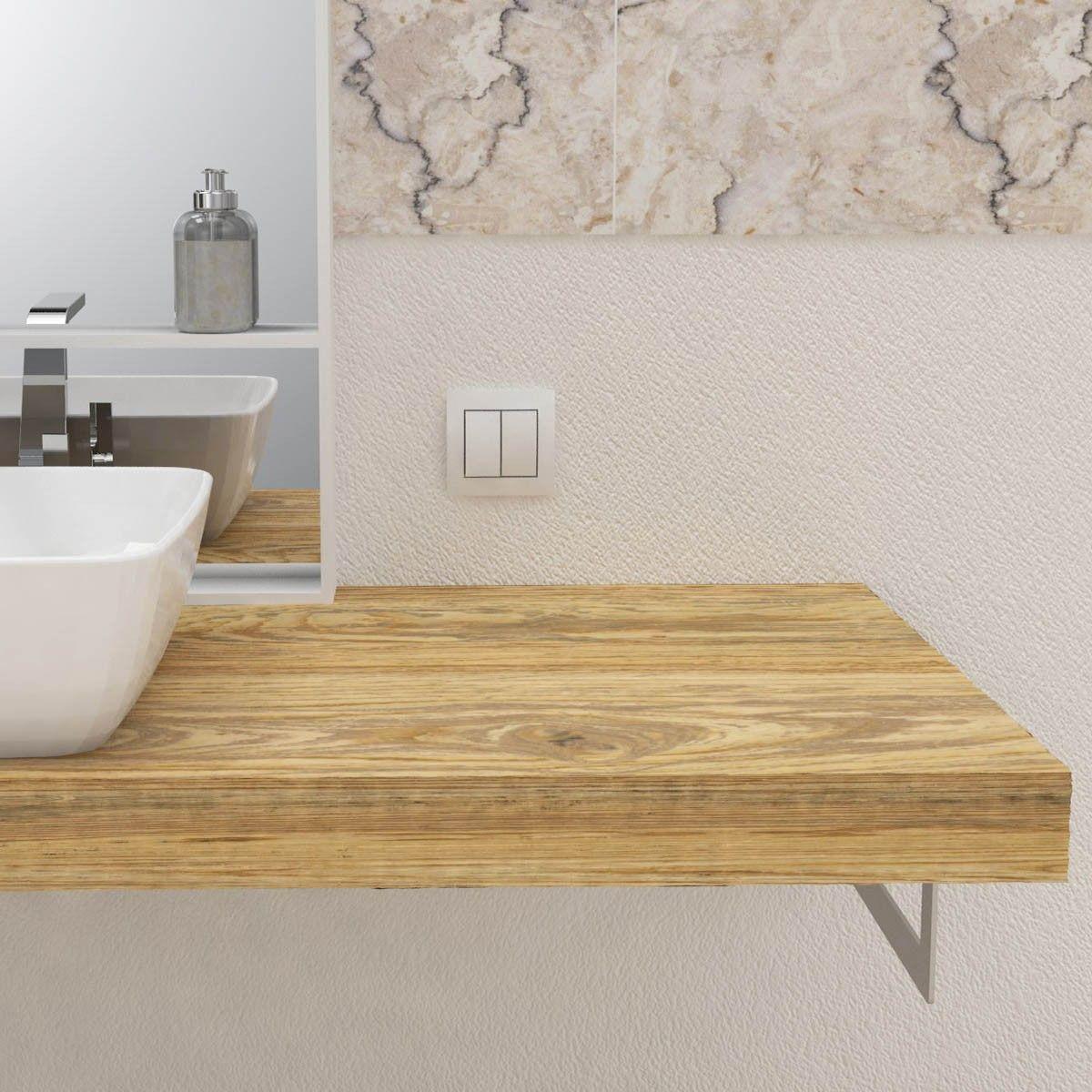 Mensola per lavabo in legno massello nel 2019 mensole for Vendita online mobili bagno