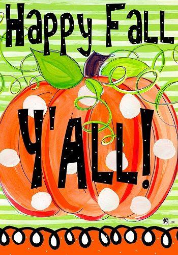 Custom Decor Flag   Happy Fall Pumpkin Decorative Flag At Garden House Flags  At GardenHouseFlags