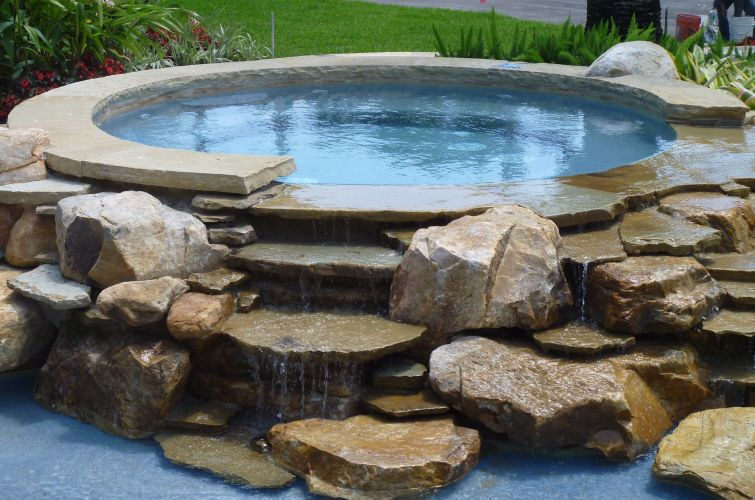 Waterfalls In Florida Designs Waterfalls In Florida Waterfalls In Backyard Pool Hot Tub Landscaping Pool Landscaping