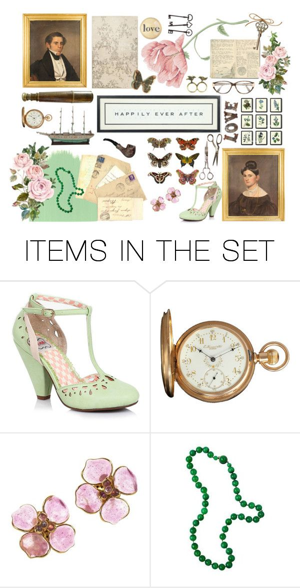 """""""Vintage Love Story"""" by maggiecakes ❤ liked on Polyvore featuring art and vintage"""