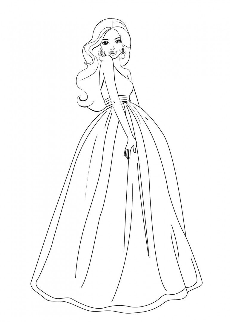 Barbie princess mermaid coloring pages and printables