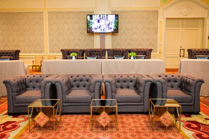 """The Breakers Palm Beach: Bored of traditional theater- or classroom-style room setups? Designing a arrangement with an assortment of furniture """"is an ideal way to provide flexibility and choices for attendees' different personalities,"""" says Michele Wilde, the resort's director of conference services and event sales."""