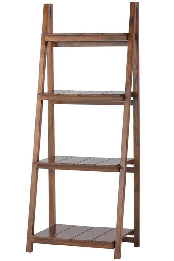 Nolan 4 Shelf Folding Bookcase Bookcase Ladder Bookcase Slatted Shelves