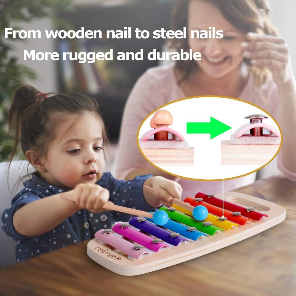 Rolimate Xylophon Und Hammerspiel Spielzeug Ab 1 Jahr 3 In 1 Montessori Padagogis En 2020 Juguetes Educativos Regalos Para Bebes Recien Nacidos Regalos Para Bebes Diy