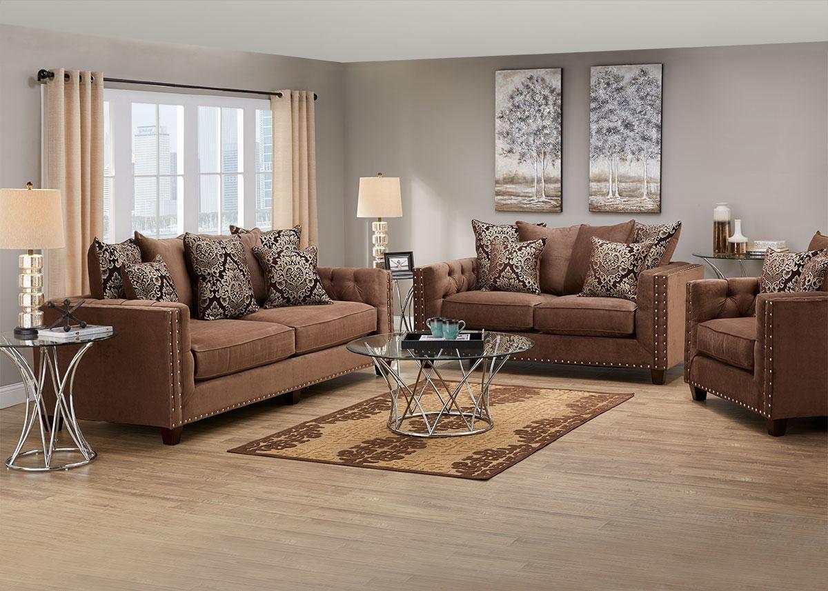 Newcastle Mocha 3 Pc. Living Room