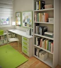 Estudio con detalles en blanco y verde