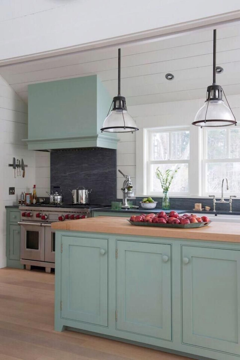 Mint Green Eat In Cottage Kitchen White Cottage Kitchens Farmhouse Style Kitchen Modern Farmhouse Kitchens