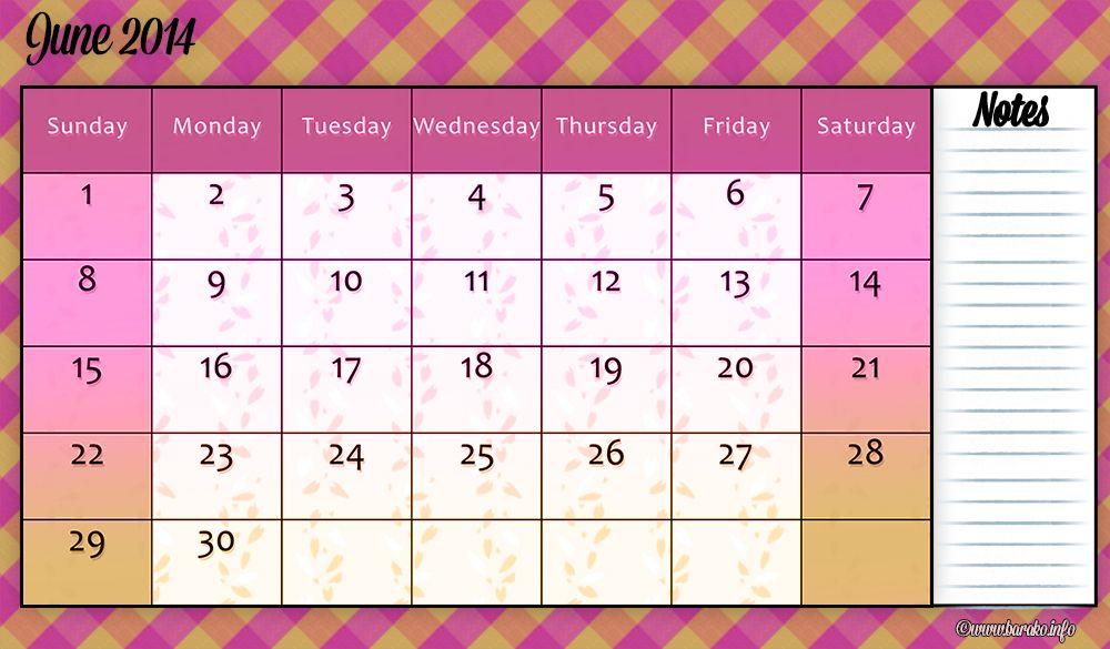Free Printable June 2014 Calendar Template Printable Calendar 2014