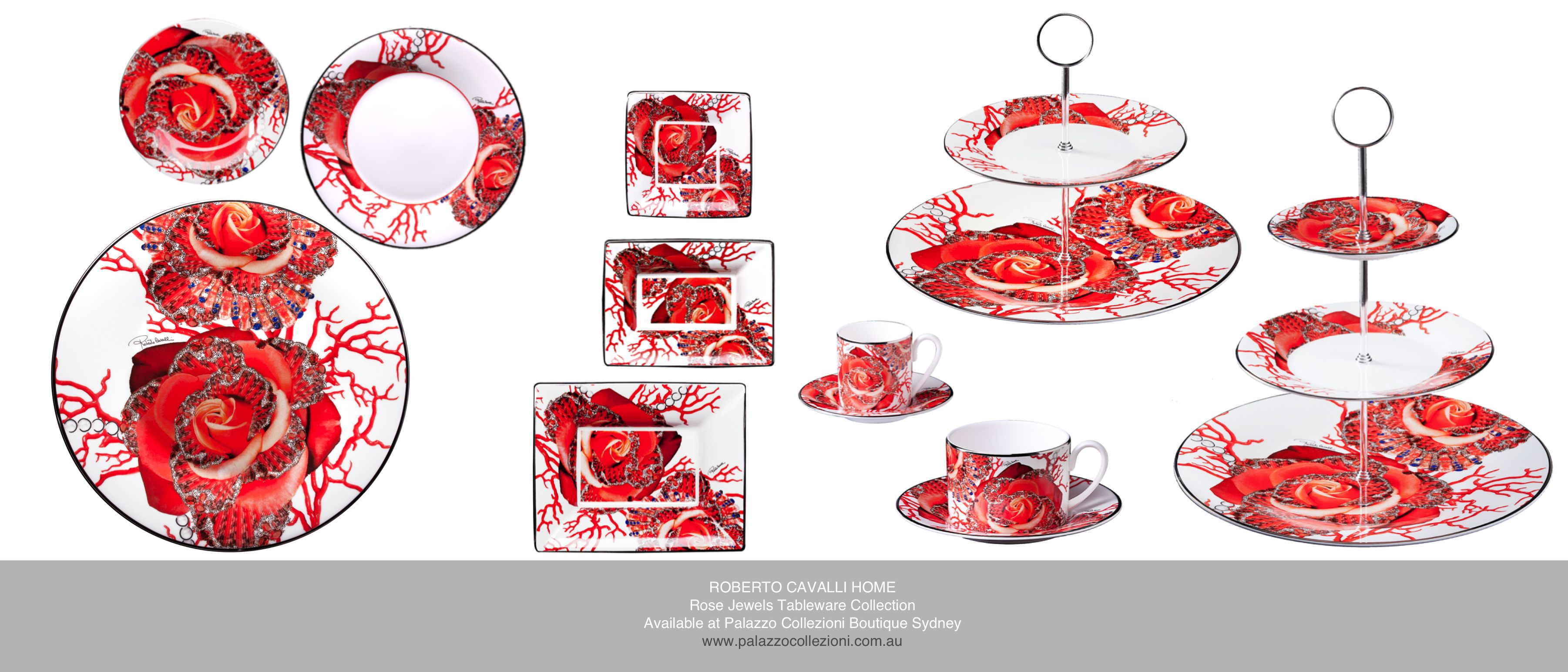 Rose Jewels Tableware Collection #robertocavalli #robertocavallihome #palazzocollezioni #tableware