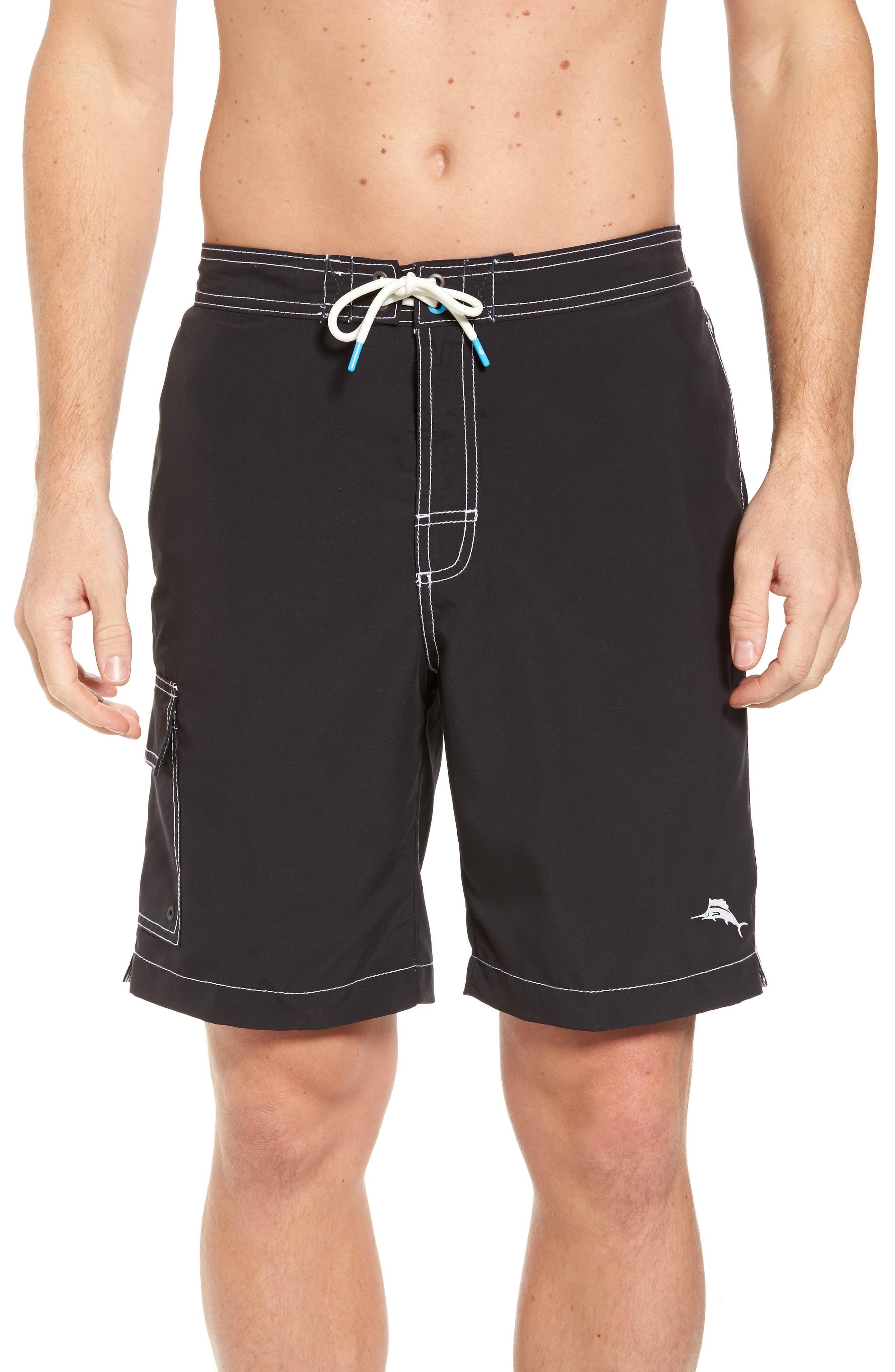 661b1f584a Men's Tommy Bahama Baja Beach Board Shorts, Size Small - Black in ...