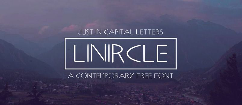 Fresh Free Font Of The Day : Linircle