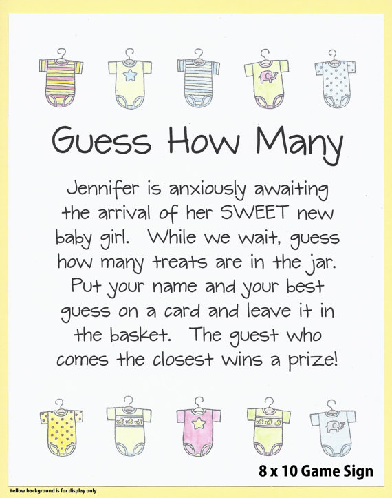 Guess How Many Candies Baby Shower Game Guess How Many Etsy Simple Baby Shower Baby Shower Funny Daddy Baby Shower