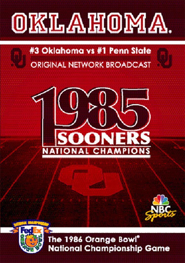 1987 Orange Bowl National Championship Game DVD Orange