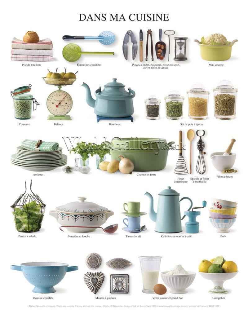 FLE- vocabulaire/ vocabulary Vaisselle- ustensiles de cuisine ... on