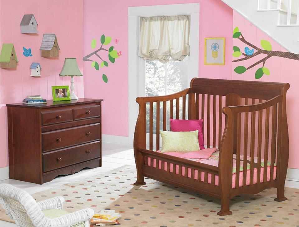 Kathryn Safetygate Crib Converted Into Toddler Bed Cinnamon - Convert crib into toddler bed