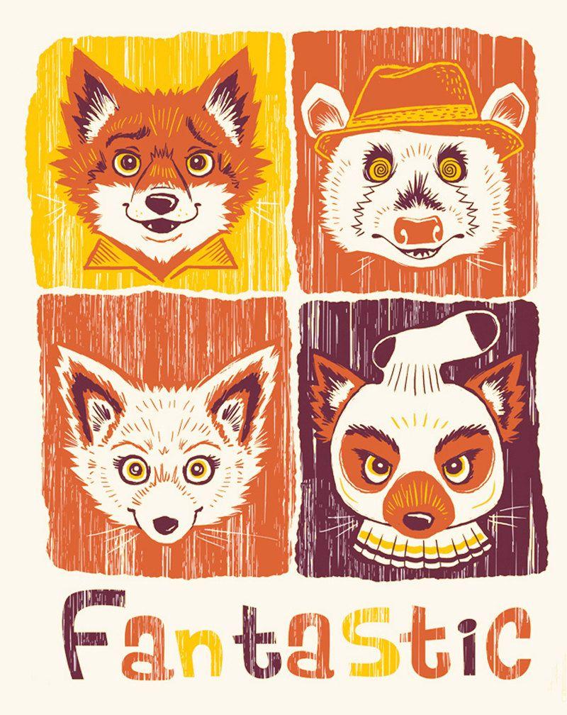 Fantastic Mr Fox Artwork Fantastic Mr Fox 8x10 Art Print By Mirandadressler On Etsy Fox Poster Fantastic Mr Fox Fantastic Fox