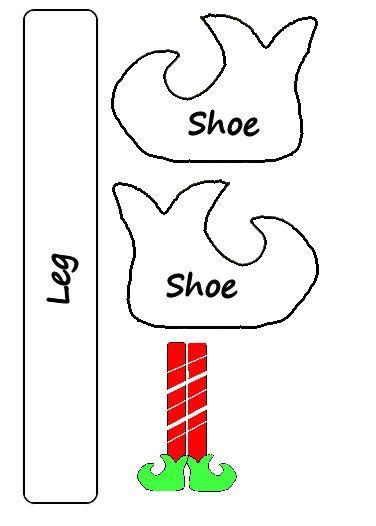 photograph regarding Elf Shoe Pattern Printable called Elf Shoe Habit Printable Appear Halloween Xmas