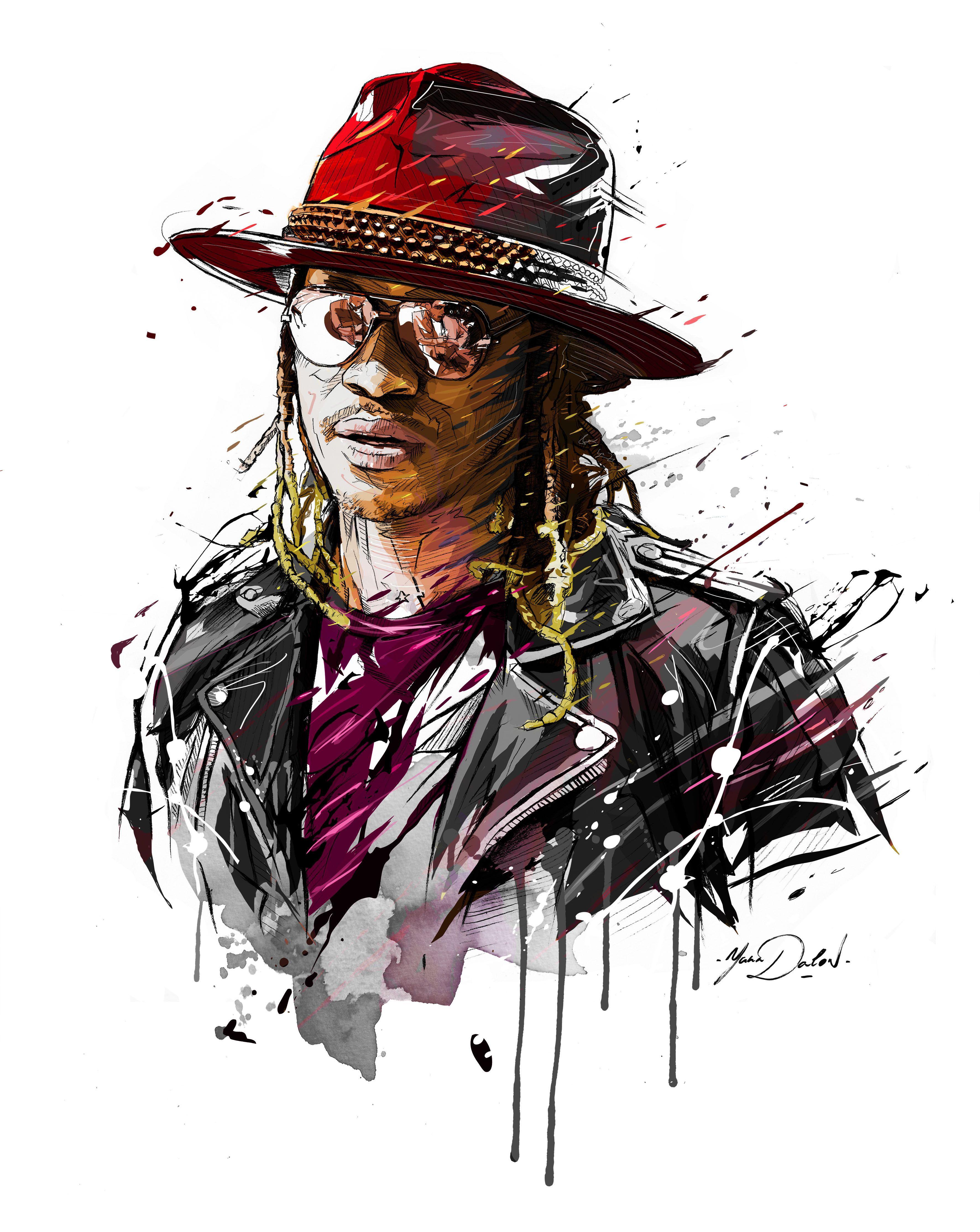 My Illustration Of Nayvadius DeMun Wilburn Aka FUTUREAmerican Rapper
