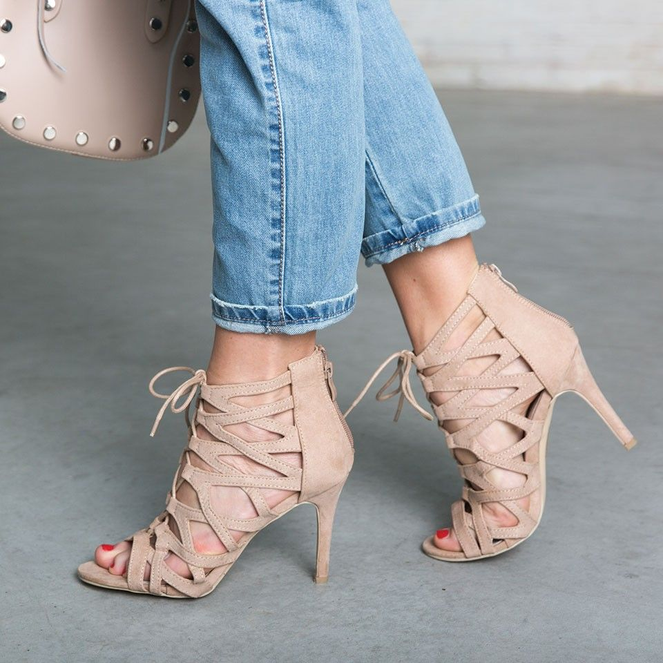 SANDY LACE UP HEELS