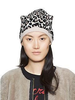9de3ed390595 leopard jacquard bow beanie by kate spade new york | To wear