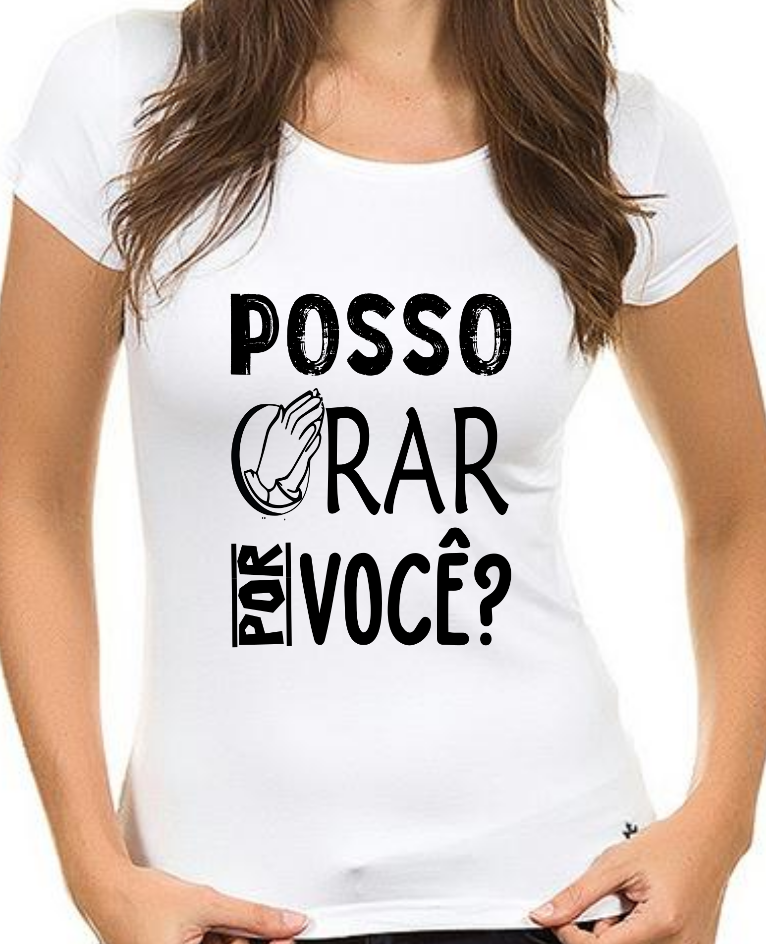 989db7422b Camiseta Evangélica Posso Orar Por Você