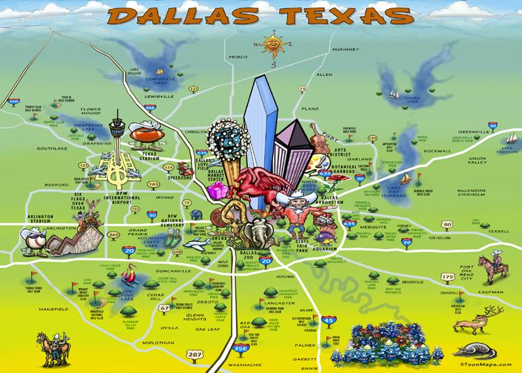 Dallas Graphic Map | TEXAS | Dallas map, Map, Dallas texas on