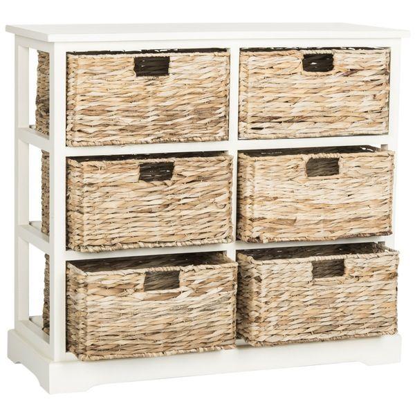 Safavieh Keenan 6 Wicker Basket Storage Chest Storage Baskets