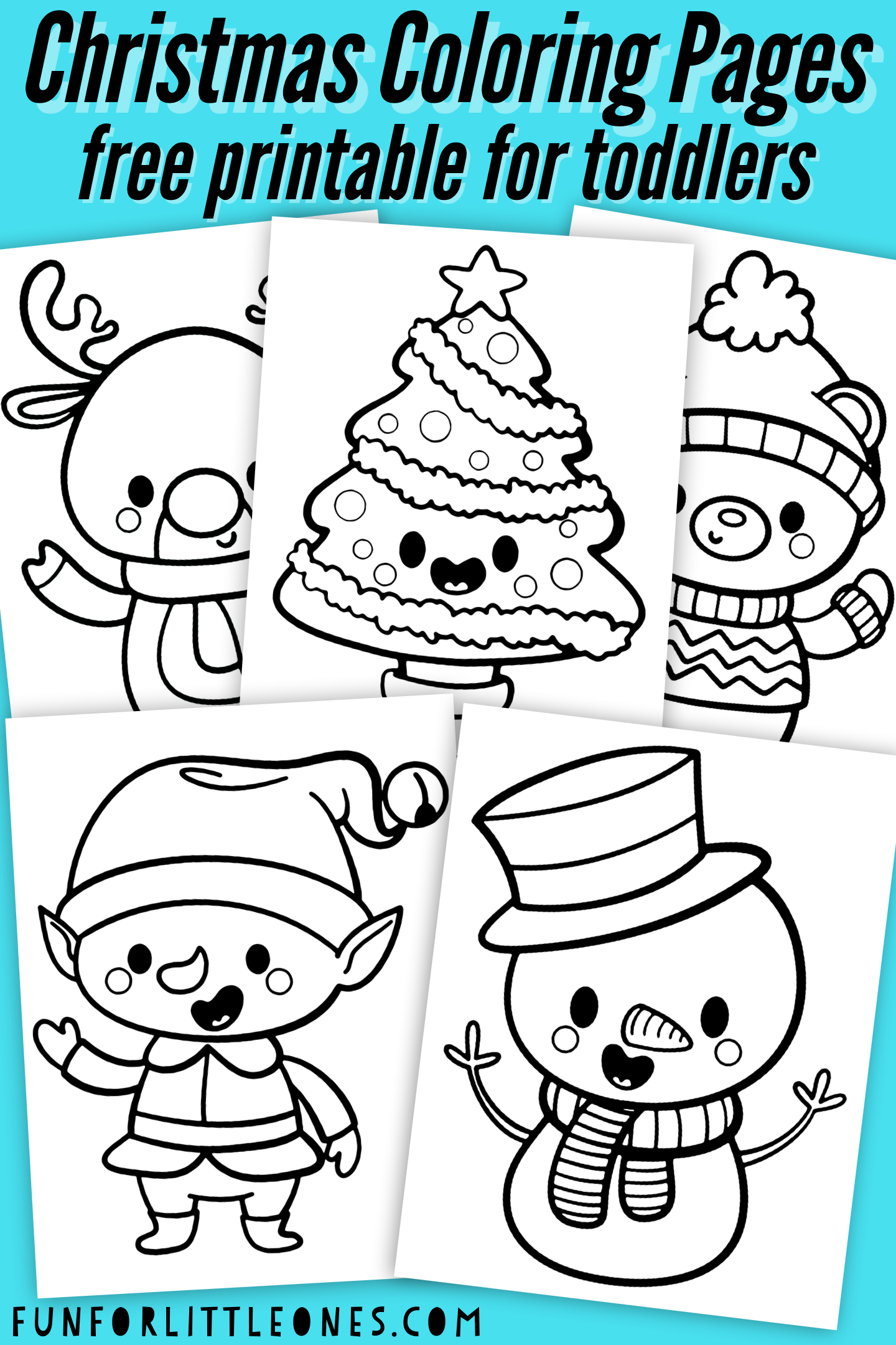 Christmas Coloring Pages for Toddlers (Free Printable)  Printable