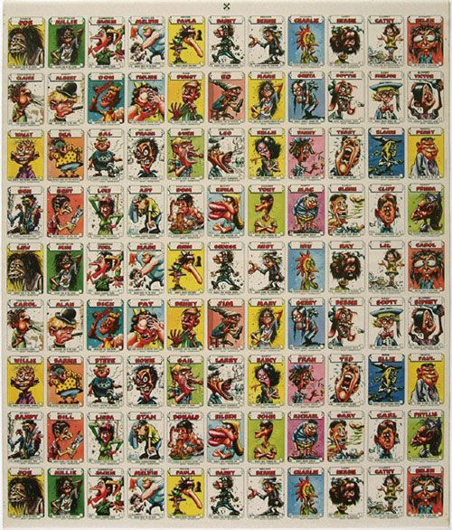 1960s Topps Monster Stickers Uncut Sheets 3 Vintage Non Sport