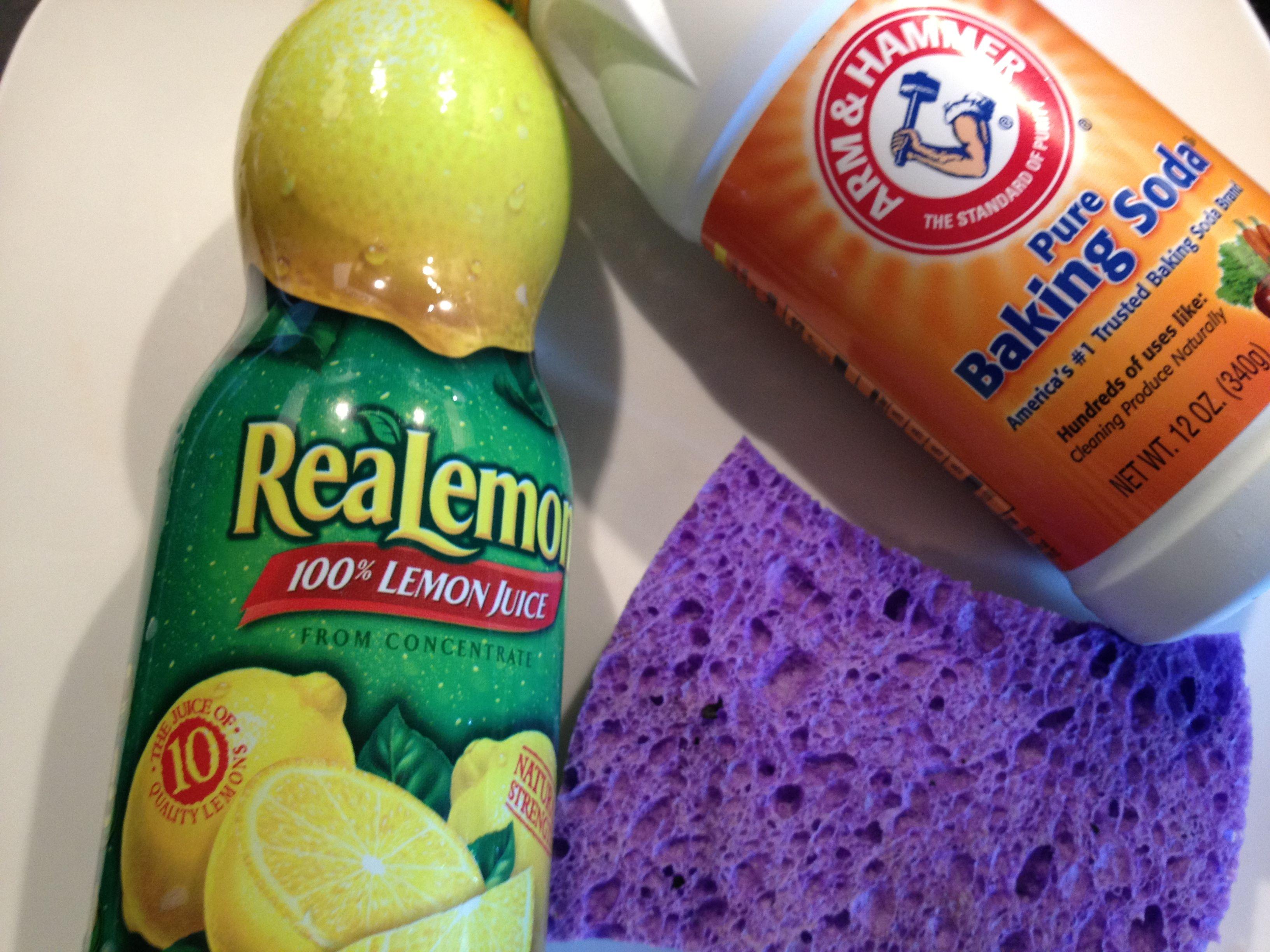 Lemon Juice Baking Soda Is A Natural Kitchen Cleaner Arts Crafts Diy Pinterest