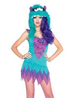 fc1caef55fe Fuzzy Frankie Monster Adult Womens Costume | Costume ideas | Monster ...