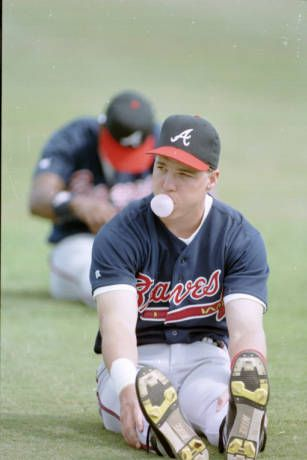 Atlanta Braves Chipper Jones during spring training, Orlando, Florida, February 27, 1994. AJCNL1994_02_27a, Atlanta Journal Constitution Photographic Archives. Special Collections and Archives, Georgia State University Library.