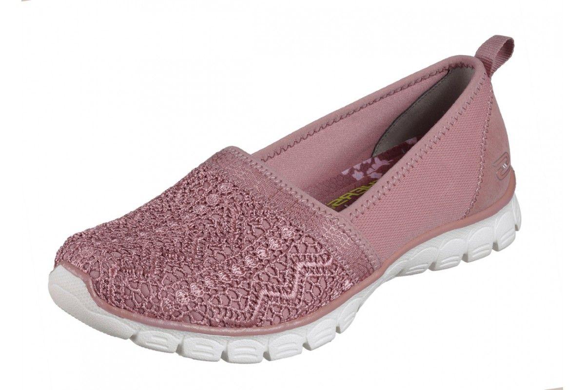 Skechers EZ Flex 3.0 Duchess Rose Pink Memory Foam Flat