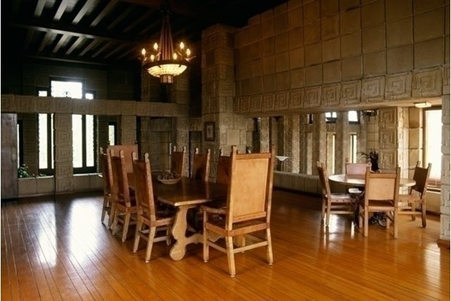 Ennis house interior frank lloyd wright all repinned for The dining room ennis