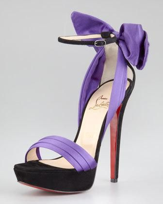 ac435c9062e Christian Louboutin Satin Bow Red Sole Sandal