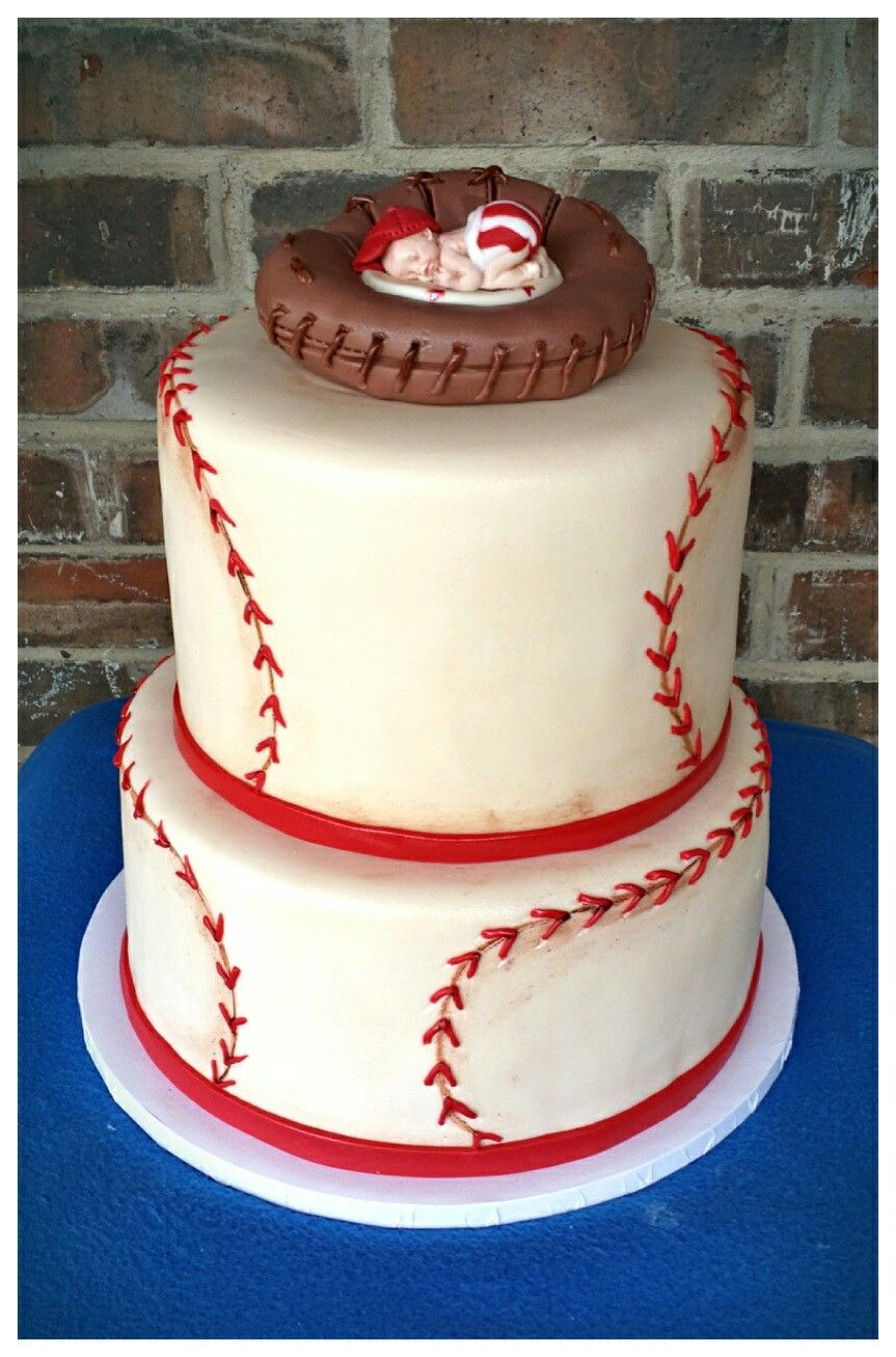 Baseball themed baby shower cake by Max Amor Cakes.   Max Amor Cakes ...
