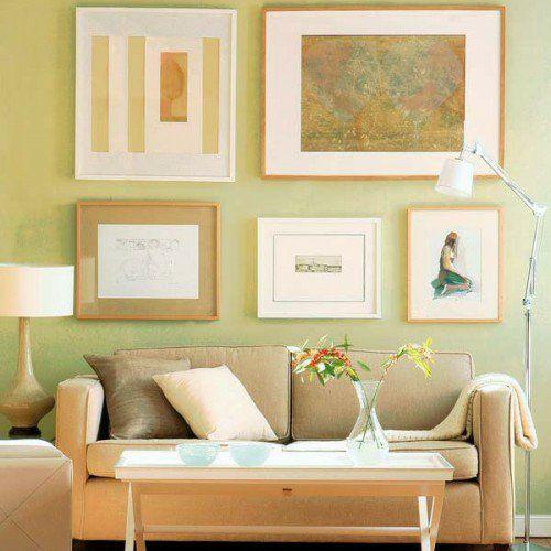 Pastellfarben Wand wand dekoration mit bildern 29 kunstvolle wandgestaltung ideen