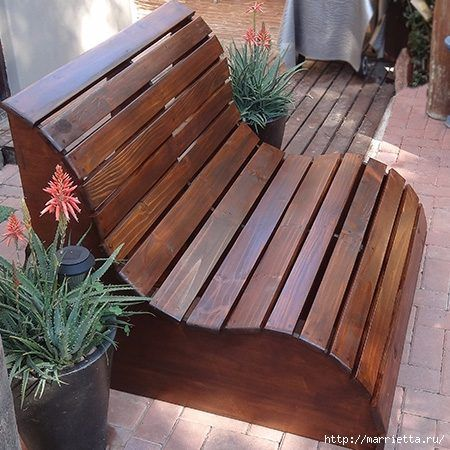 Garden bench with their own hands